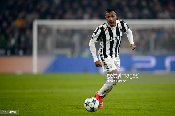 Alex Sandro of Juventus FC in action during the UEFA Champions League football match between Juventus FC and FC Barcelona The match ended in a 00 tie