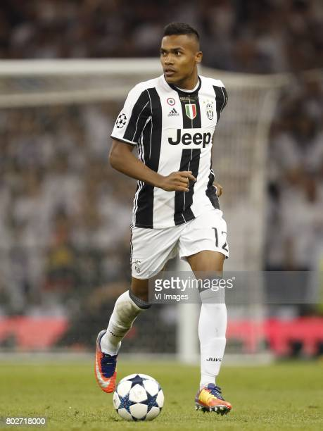 Alex Sandro of Juventus FCduring the UEFA Champions League final match between Juventus FC and Real Madrid on June 3 2017 at the Millennium Stadium...