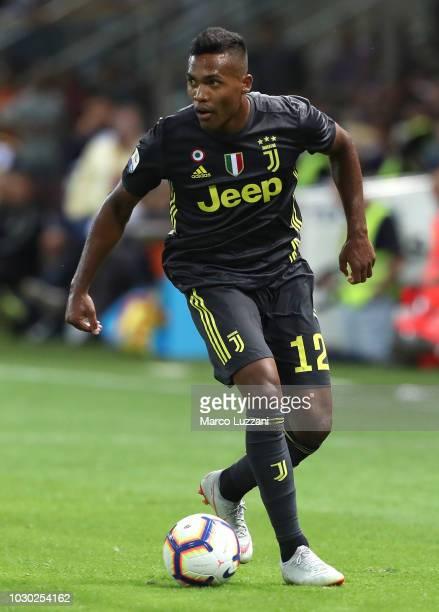 Alex Sandro of Juventus in action during the serie A match between Parma Calcio and Juventus at Stadio Ennio Tardini on September 1 2018 in Parma...