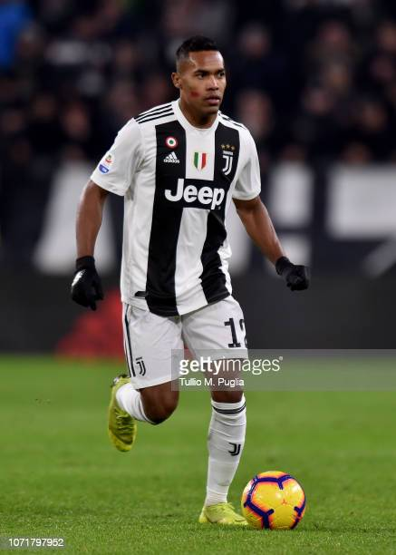 Alex Sandro of Juventus in action during the Serie A match between Juventus and SPAL at Allianz Stadium on November 24 2018 in Turin Italy