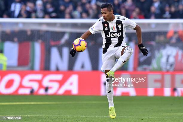 Alex Sandro of Juventus in action during the Serie A match between Juventus and UC Sampdoria on December 29 2018 in Turin Italy
