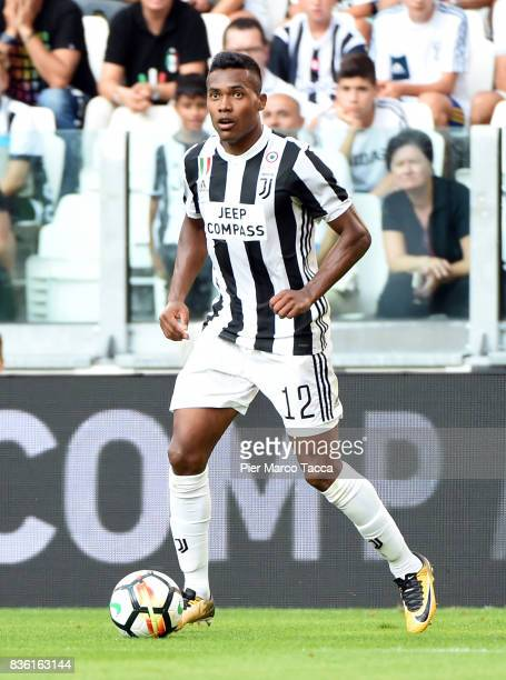 Alex Sandro of Juventus in action during the Serie A match between Juventus and Cagliari Calcio at Allianz Stadium on August 19 2017 in Turin Italy