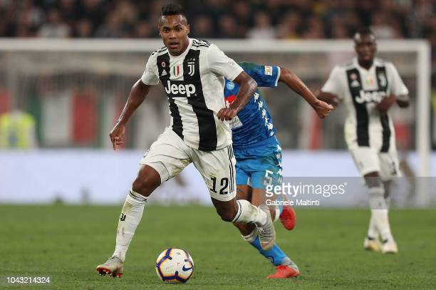 Alex Sandro of Juventus in action during the Srie A match between Juventus and SSC Napoli at Allianz Stadium on September 29 2018 in Turin Italy