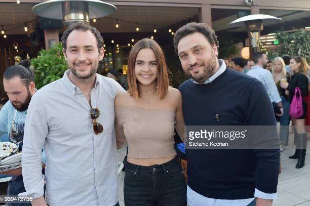 Alex Saper, Bailee Madison and Nicola Farinetti attend Terra Grand Opening at Eataly Los Angeles at Eataly LA on March 28, 2018 in Los Angeles,...