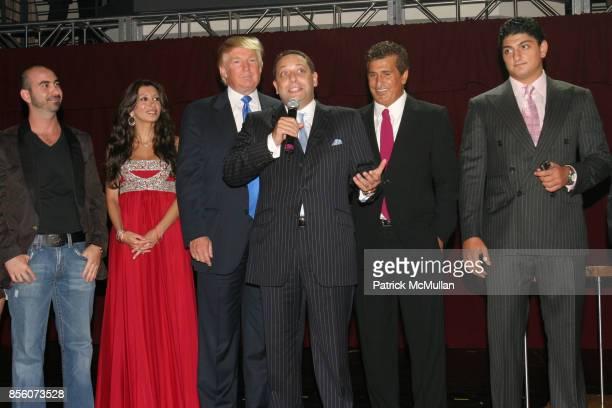 Alex Sapir guest Donald Trump Felix Sater Tevfik Arif and guest attend Trump Soho Hotel Condominium Launch Party at Tribeca Rooftop on September 19...