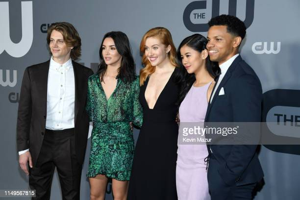 Alex Saxon Maddison Jaizani Kennedy McMann Leah Lewis and Tunji Kasim of Nancy Drew attend the The CW Network 2019 Upfronts at New York City Center...