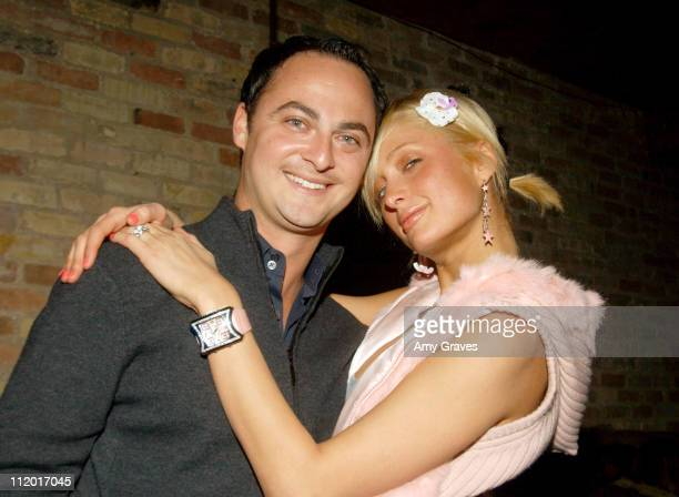 Alex Schaffel of UTA and Paris Hilton during 2004 Park City UTA/Amazoncom Party at The Palms Lounge and Casino at Buena Vista in Park City Utah...