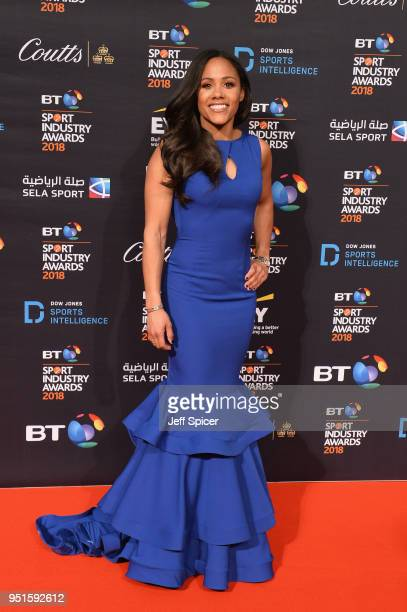Alex Scott arrives at the red carpet during the BT Sport Industry Awards 2018 at Battersea Evolution on April 26 2018 in London England The BT Sport...