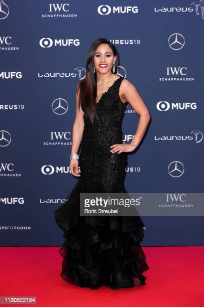 Alex Scott arrives during the 2019 Laureus World Sports Awards on February 18 2019 in Monaco Monaco