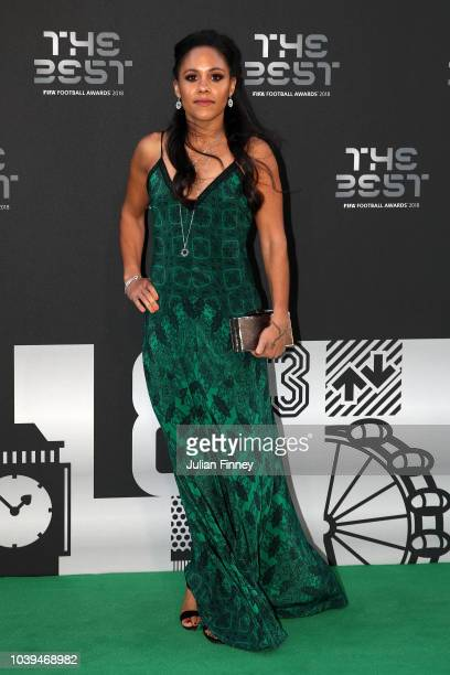 Alex Scott arrives on the Green Carpet ahead of The Best FIFA Football Awards at Royal Festival Hall on September 24 2018 in London England