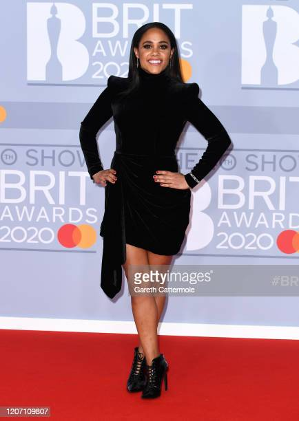 Alex Scott attends The BRIT Awards 2020 at The O2 Arena on February 18, 2020 in London, England.