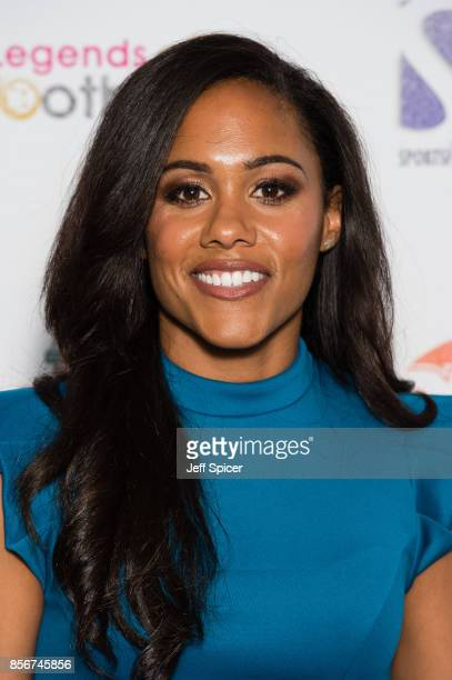 Alex Scott attends the Legends of Football fundraiser at The Grosvenor House Hotel on October 2 2017 in London England The annual footballthemed...