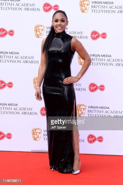 Alex Scott attends the Virgin Media British Academy Television Awards 2019 at The Royal Festival Hall on May 12 2019 in London England