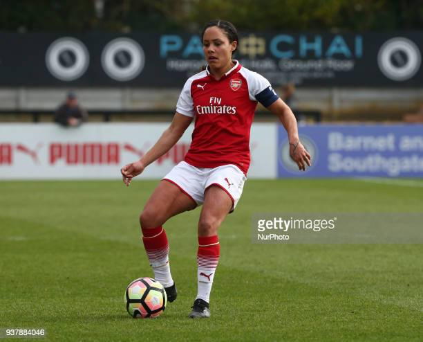 Alex Scott of Arsenal during SSE Women's FA Cup quarter_final match between Arsenal against Charlton Athletic Women at Meadow Park Borehamwood FC on...