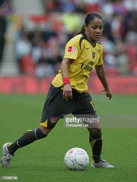 Alex Scott of Arsenal during the FA Womens Cup final sponsored by EON match between Arsenal and Charlton Athletic at the City Ground on May 7 2007 in...