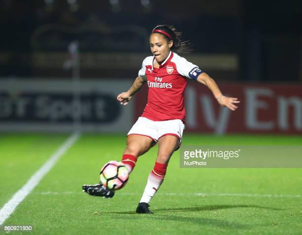 Alex Scott of Arsenal during The FA WSL Continental Tyres Cup match between Arsenal against London Bees at Meadow Park Borehamwood FC on 12 Oct 2017