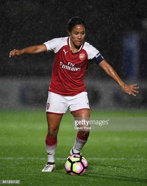 Alex Scott of Arsenal during the match between Arsenal Women and Everton Ladies at Meadow Park on August 31 2017 in Borehamwood England