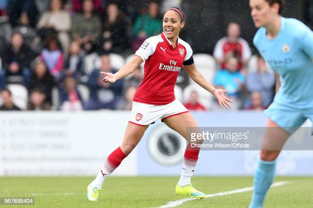 Alex Scott of Arsenal during the Womens Super League match between Arsenal Ladies and Manchester City Women at Meadow Park on May 12 2018 in...