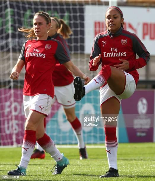 Alex Scott of Arsenal during Women's Super League 1match between Arsenal against Bristol City Women at Meadow Park Borehamwood FC on 08 Oct 2017