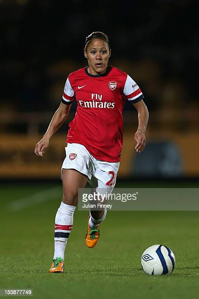 Alex Scott of Arsenal in action during the FA WSL Continental Cup Final match between Arsenal Ladies FC and Birmingham City Ladies FC at Underhill...