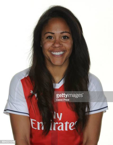 Alex Scott of Arsenal Ladies during Arsenal Ladies Photocall at London Colney on February 7 2017 in St Albans England