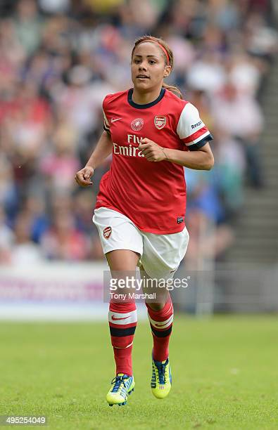 Alex Scott of Arsenal Ladies during the FA Women's Cup Final match between Everton Ladies and Arsenal Ladies at Stadium mk on June 1 2014 in Milton...