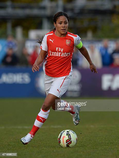 Alex Scott of Arsenal Ladies during the match between Chelsea Ladies and Arsenal Ladies in the WSL on April 30 2015 in Staines England