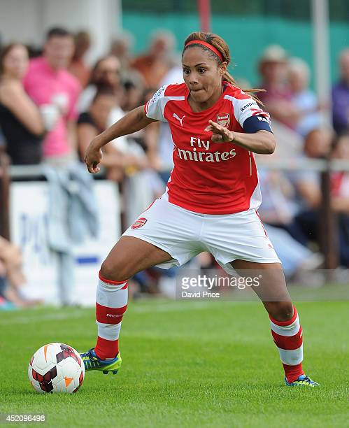 Alex Scott of Arsenal Ladies during the match between Millwall Lionessess and Arsenal Ladies in the Womens Continental League Cup on July 13 2014 in...