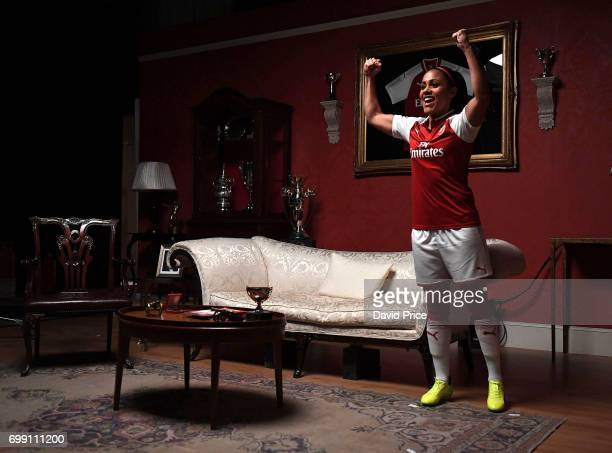 Alex Scott of Arsenal Ladies during the Puma Kit Shoot for the new Arsenal home kit on January 25 2017 in Watford England