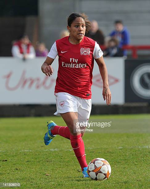 Alex Scott of Arsenal Ladies FC during the Women's Champions League match between Arsenal Ladies FC and Gotenburg FC at Meadow Park on March 14 2012...