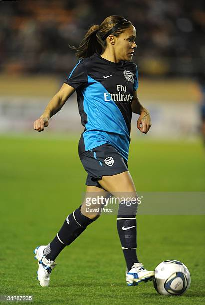 Alex Scott of Arsenal Ladies FC in action during a friendly game against INAC Kobe at the Nishigaoka Stadium on November 30 2011 in Tokyo Japan