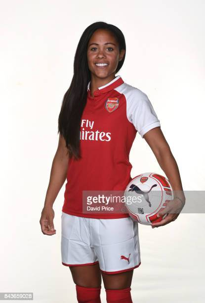 Alex Scott of Arsenal Women during the Arsenal Women 1st Team Photocall at London Colney on September 6 2017 in St Albans England
