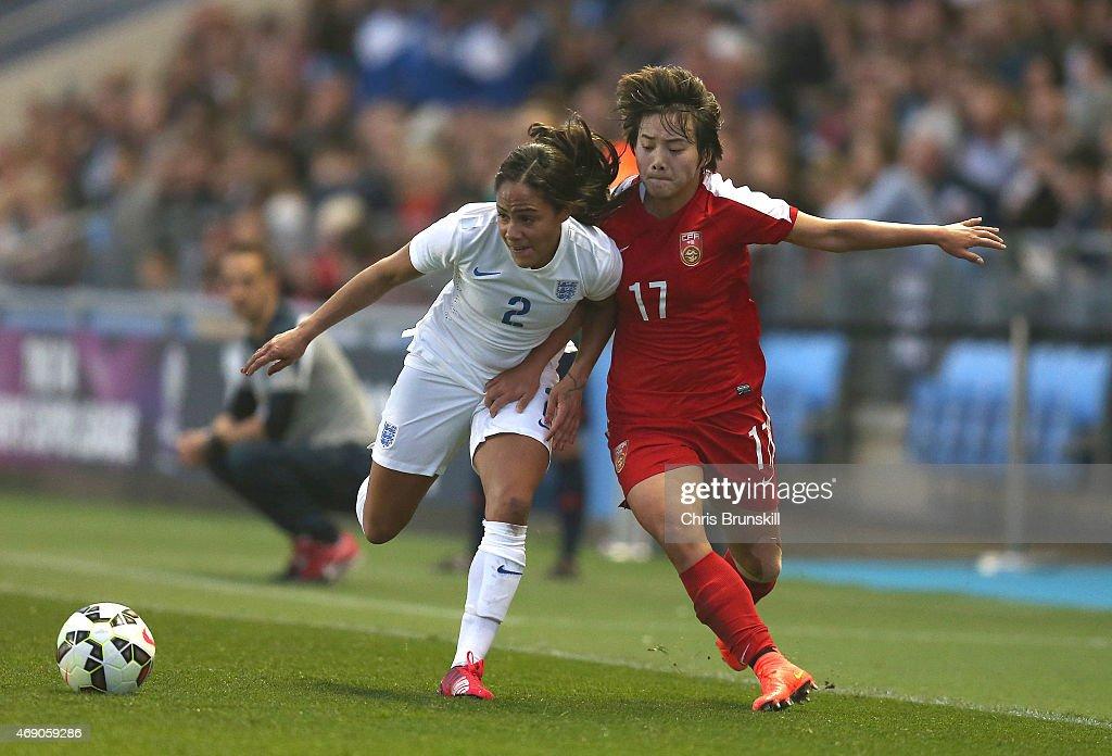 England v China: Women's Friendly International : News Photo