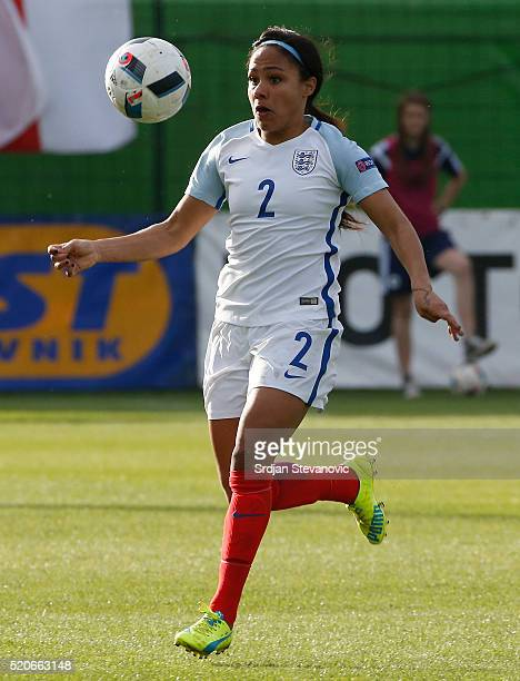 Alex Scott of England in action during the UEFA Women's European Championship Qualifier match between Bosnia and Herzegovina and England at FF BIH...