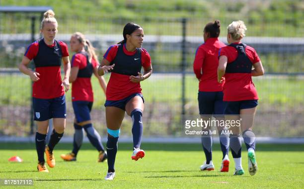 Alex Scott of England Women during the England training session at on July 18 2017 in Utrecht Netherlands