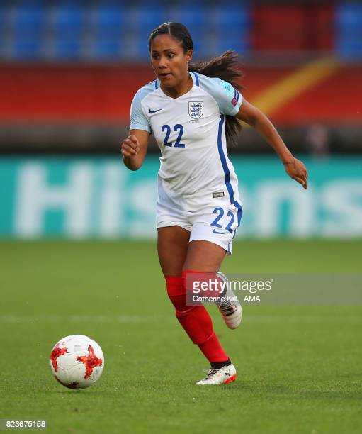 Alex Scott of England Women during the UEFA Women's Euro 2017 match between Portugal and England at Koning Willem II Stadium on July 27 2017 in...