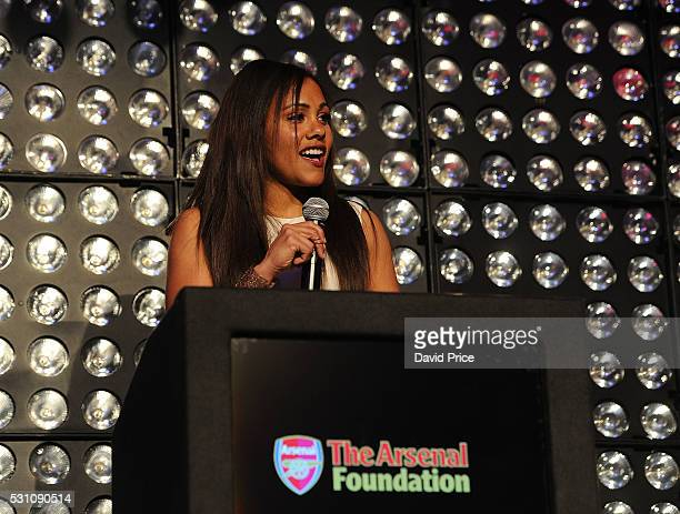 Alex Scott of the Arsenal Ladies during The Arsenal Foundation Ball at Emirates Stadium on May 12 2016 in London England