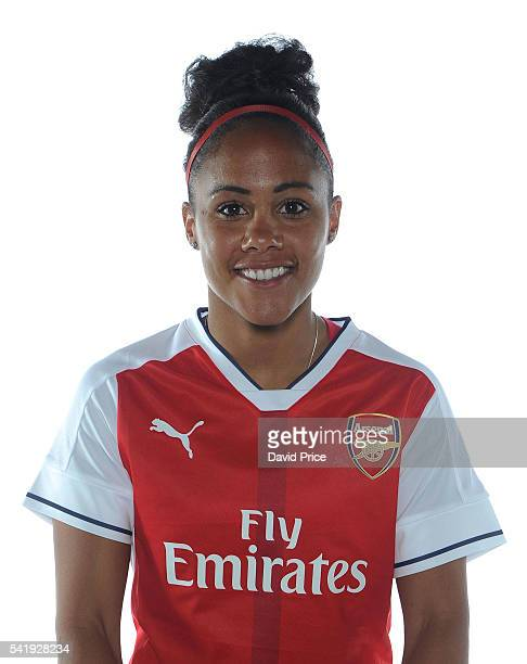 Alex Scott of the Arsenal Ladies during their photocall at London Colney on June 16 2016 in St Albans England