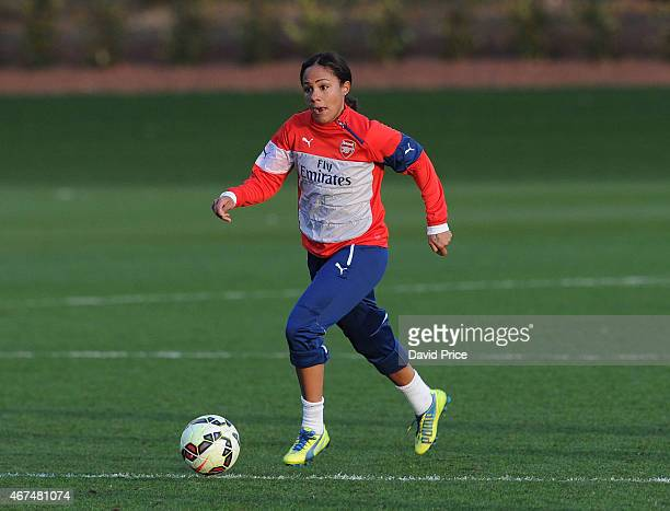 Alex Scott of the Arsenal Ladies during their training session at London Colney on March 24 2015 in St Albans England