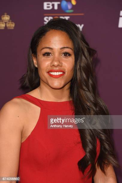Alex Scott poses on the red carpet during the BT Sport Industry Awards 2017 at Battersea Evolution on April 27 2017 in London England The BT Sport...
