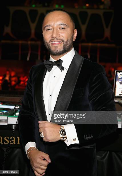 Alex Sensation attends the after party for the 15th annual Latin GRAMMY Awards at the MGM Grand Garden Arena at Hakkasan Las Vegas Restaurant and...
