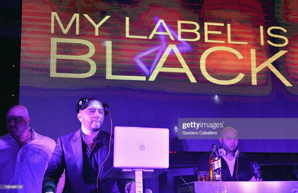 Alex Sensation attends the Johnnie Walker My Label is Black at Bongos on December 13, 2012 in Miami, Florida.