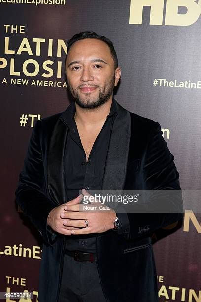 Alex Sensation attends 'The Latin Explosion A New America' New York premiere at Hudson Theatre on November 10 2015 in New York City