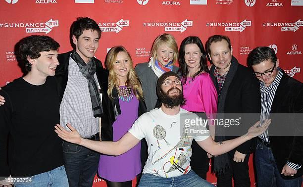 Alex Shaffer Josh Harto Kristen Bell Mamie Gummer Liz Garcia Josh Harto Paulie Litt and Martin Starr arrive at 'The Lifeguard' Premiere 2013 Sundance...