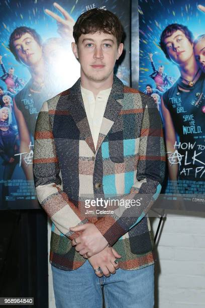 Alex Sharp attends the New York premiere of 'How to Talk to Girls at Parties' at Metrograph on May 15 2018 in New York City
