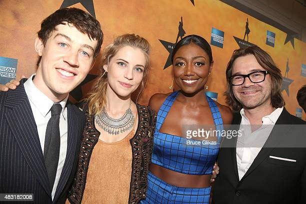 Alex Sharp Wallis CurrieWood Patina Miller and David Mars attend Hamilton Broadway opening night at Richard Rodgers Theatre on August 6 2015 in New...
