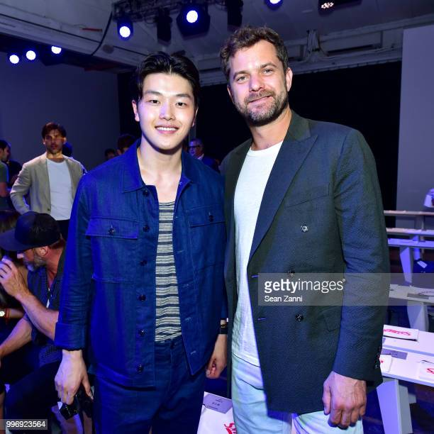 Alex Shibutani and Joshua Jackson attend the Todd Snyder S/S 2019 Collection during NYFW Men's July 2018 at Industria Studios on July 11 2018 in New...