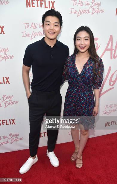 Alex Shibutani and Maia Shibutani attend a screening of Netflix's 'To All The Boys I've Loved Before' at Arclight Cinemas Culver City on August 16...