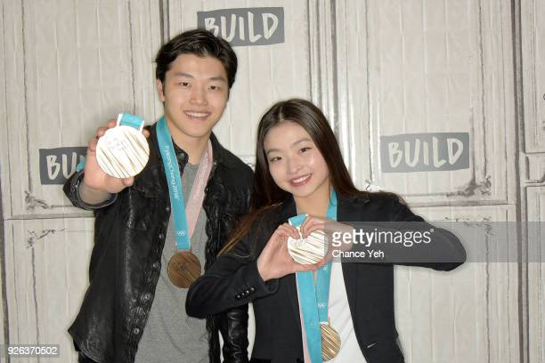 Alex Shibutani and Maia Shibutani attend Build series to discuss 2018 Winter Olympics at Build Studio on March 2 2018 in New York City