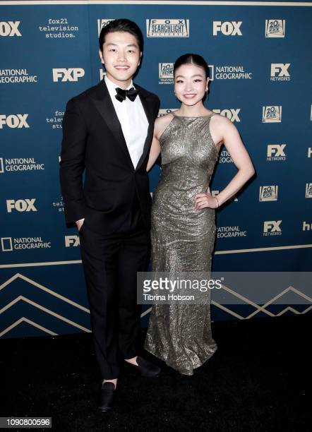 Alex Shibutani and Maia Shibutani attend the FOX FX and Hulu 2019 Golden Globe Awards after party at The Beverly Hilton Hotel on January 06 2019 in...